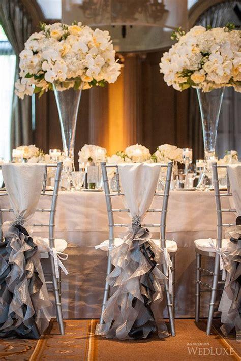 des tables de r 233 ception de mariage chic en blanc et gris