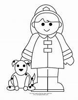 Fireman Firefighter Coloring Printable Fire Clipart Boy Preschool Cartoon Printables Drawing Paste Cut Bombero Learning Toddler Helpers Lego Crafts Popular sketch template