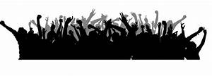 Concert Crowd Silhouette Png