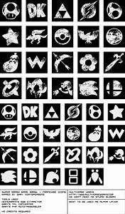 Wii Super Smash Bros Brawl Franchise Icons The