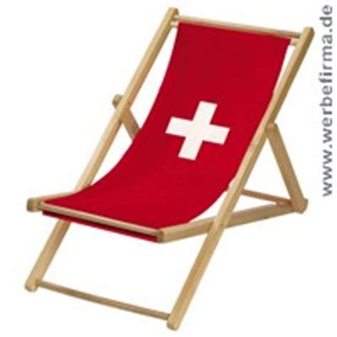 Liegestuhl Mit Werbung by Fussball Liegestuhl Schweiz Mit Bedruckung