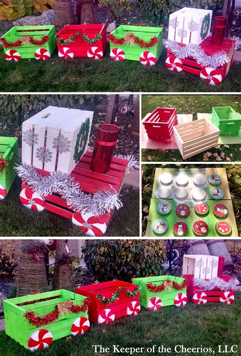 outdoor decorations diy diy christmas crate train craft for outside diy christmas ideas pinterest crate training