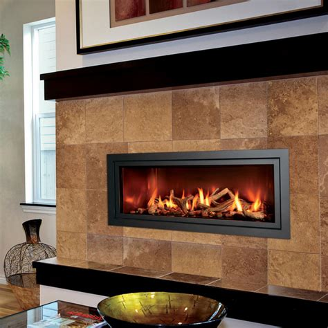 linear gas fireplace mendota ml47 modern gas linear fireplace nw