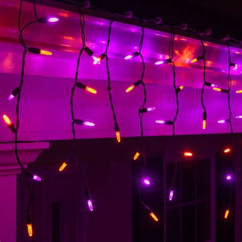 led christmas lights   purple orange halloween led