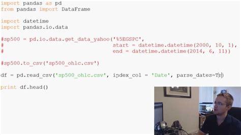 Pandas With Python 2.7 Part 3