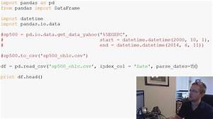 Pandas with Python 2.7 Part 3 - Reading from and saving to ...
