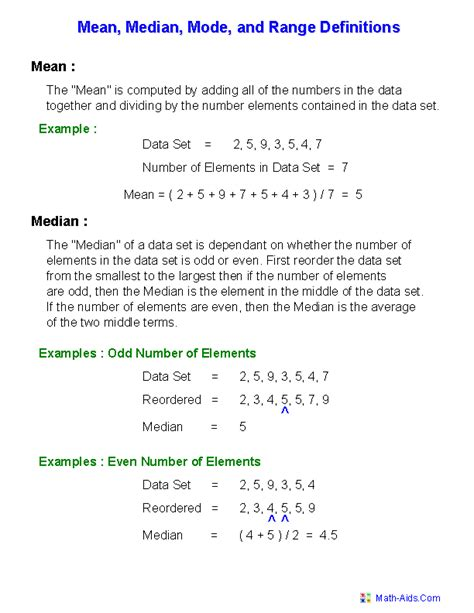 mean mode median worksheets mean mode median and range worksheets these are great worksheets