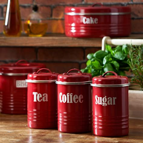 Alibaba.com offers 1,758 red coffee canister products. Kitchen Canister Sets in Red Color - HomesFeed