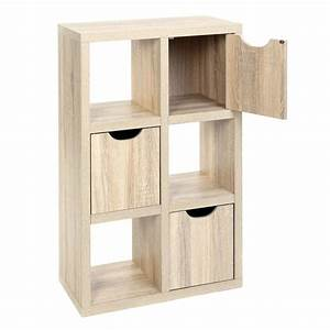meuble 6 cubes 3 portes quotbivoakquot naturel With meuble cube 6 cases