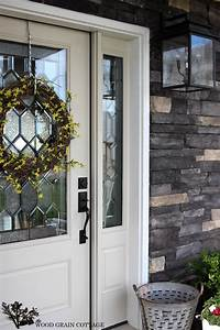 paint front door New Painted Front Door - The Wood Grain Cottage