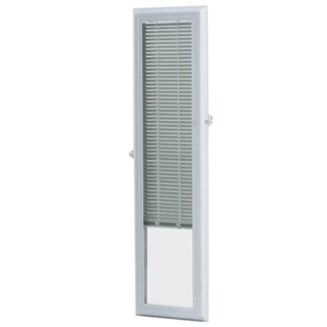 sidelight window treatments home depot odl 8 in x 36 in add on enclosed aluminum blinds in