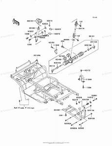 Kawasaki Side By Side Models With No Year Oem Parts Diagram For Frame  Kaf620