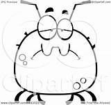 Tick Sad Drunk Cartoon Coloring Clipart Chubby Thoman Cory Outlined Vector Royalty Clipartof Regarding Notes sketch template