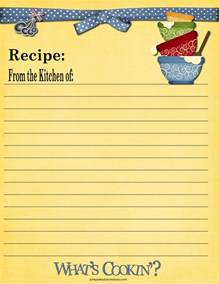 Full Page Recipe Card Templates