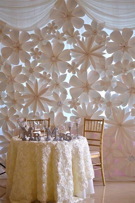 wedding backdrops  paper flowers paper flowers