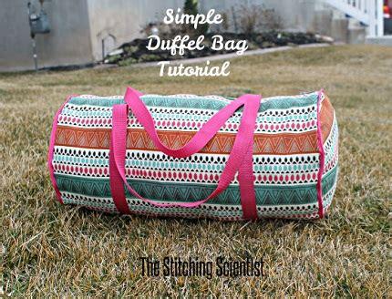 tutorial sew  simple duffel bag sewing