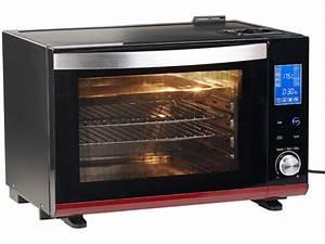 Four électrique Chaleur Tournante : mini four lectrique avec cuisson gril et vapeur chaleur ~ Premium-room.com Idées de Décoration