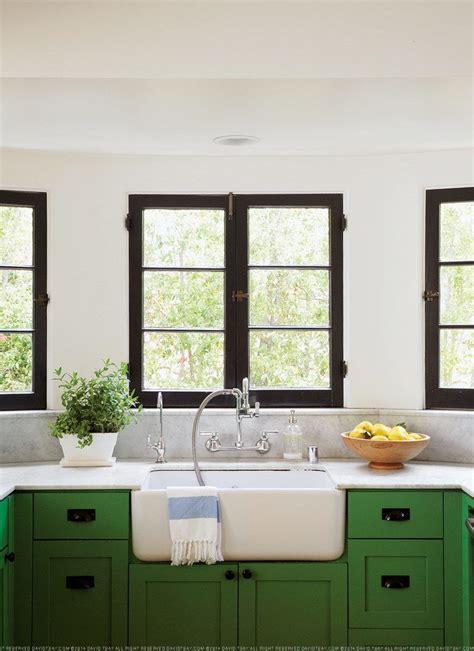 green kitchen cabinets black window trim white walls kitchens breakfast nooks green