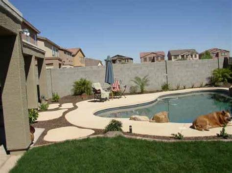 Arizona Backyard Landscape Ideas by Arizona Tropical Landscape Design With Sod Palm Trees