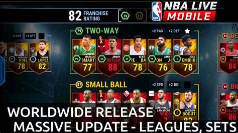 nba live scores mobile leagues new sets worldwide release update more