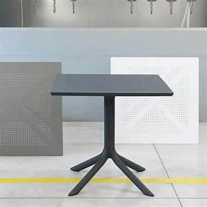 Petite Table De Jardin : petite table de jardin carr e en polypropyl ne clip 4 ~ Dailycaller-alerts.com Idées de Décoration