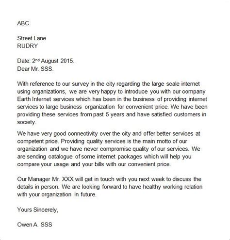 sample business introduction letter   documents