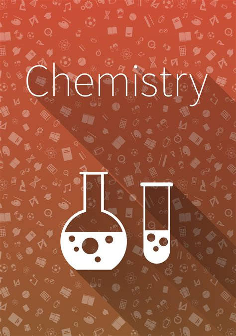 cover chemistry  red background custom designed