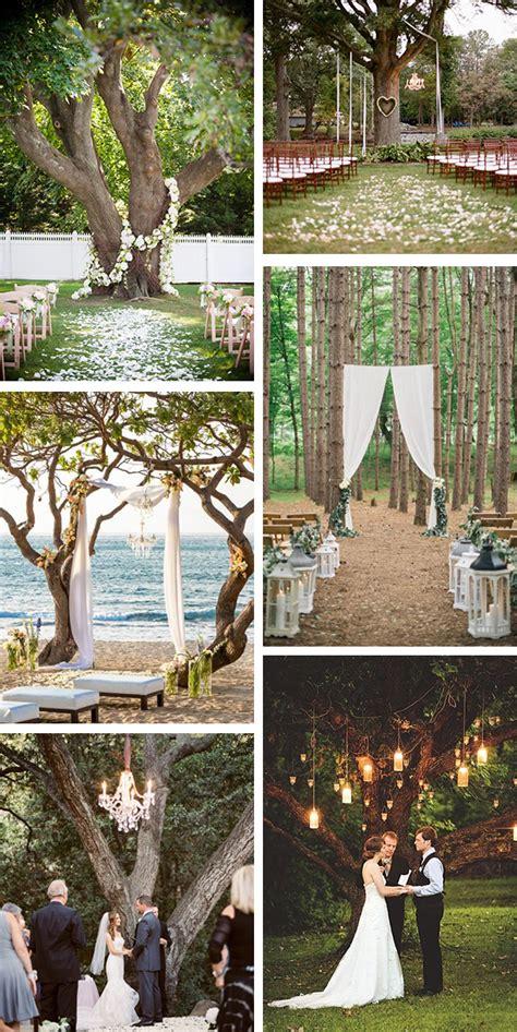 Outdoor Wedding Ceremony Under A Tree The Destination