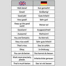 Pin Von Su P Auf Schule  English Deutsch, Englisch Deutsch Und Learn Deutsch