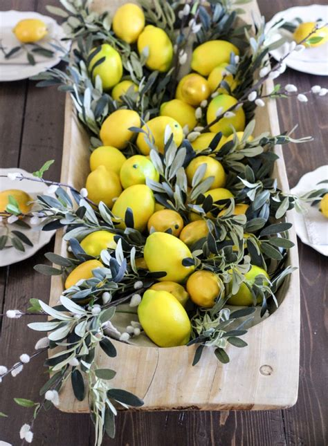 dining room table centerpiece ideas give me all the lemons summer dining room tour cotton