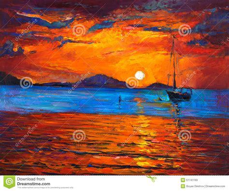 Boat and ocean stock illustration. Illustration of image ...