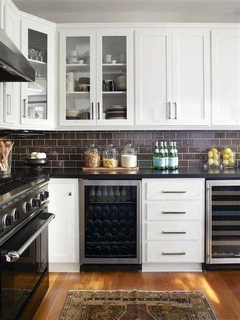 black subway tile kitchen backsplash subway tile ideas on a kitchen backsplash the 7907