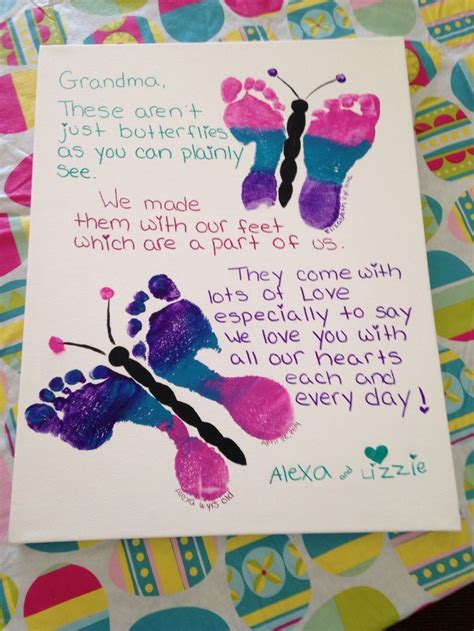 mothers day idea butterfly footprints   special