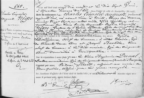 chambre de commerce de montpellier acte de naissance de léopold nègre 15 juin 1879 27 cours