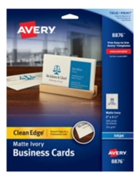 business card template avery 8876 avery clean edge ivory matte business cards