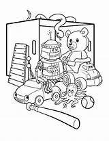 Coloring Toys Pages Box Toy Printable Getcolorings sketch template
