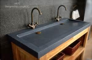 bathroom counter ideas 47 quot x 19 quot trendy trough gray granite