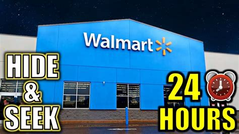24 Hour Overnight Hide And Seek Challenge In Walmart