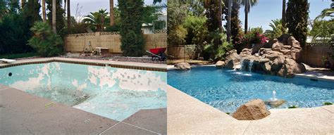 pool before and after before after gardner pool remodeling gardner