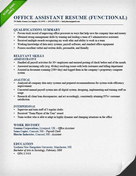 summary of skills resume exle best resume gallery