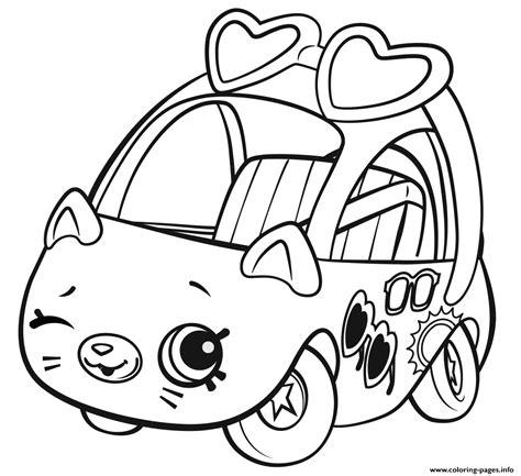 shopkins cutie cars sunny sedan coloring pages printable