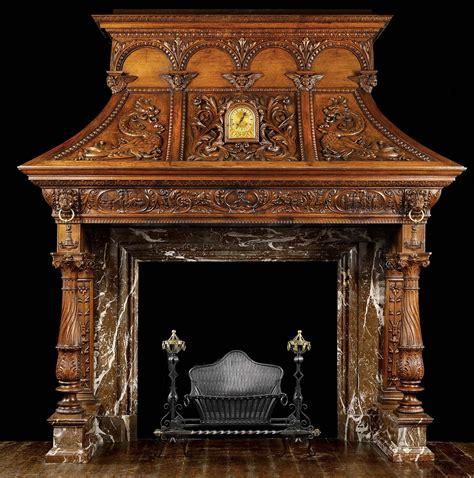 large  dramatically carved oak  century