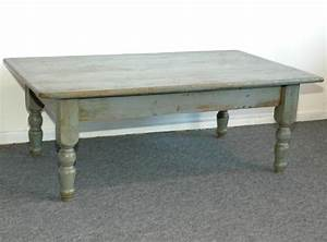 19thc blue grey painted coffee farm table from new england With grey farmhouse coffee table