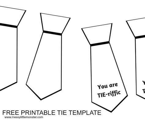 Tie Template S Day Tie Card With Free Printable Tie Template