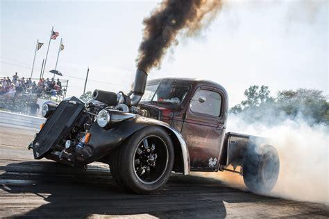 cummins powered diesel pickup crashes  drag week