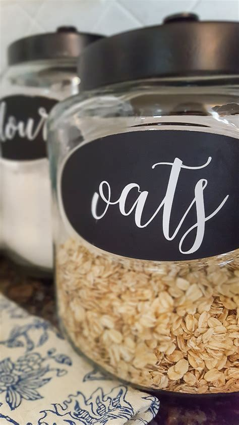 Kitchen Canister Labels by Diy Labels For Kitchen Canisters Diy Beautify