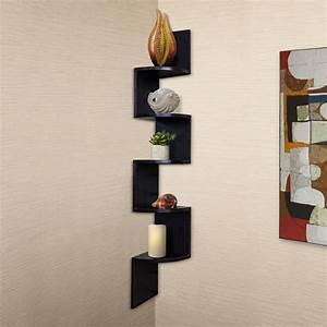 Top corner shelves for living room