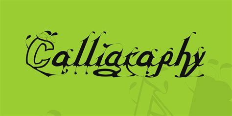 calligraphy font  fonts