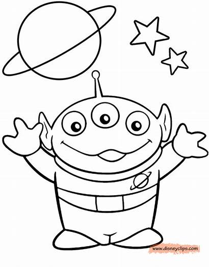 Alien Coloring Toy Story Pages Sheets Drawings