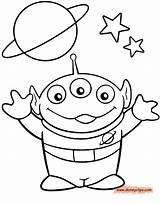 Alien Coloring Pages Toy Story Sheets Para Colorear Drawings Printable Disney Drawing Toys Dibujos Cute Characters Boy Line Colouring Drawn sketch template